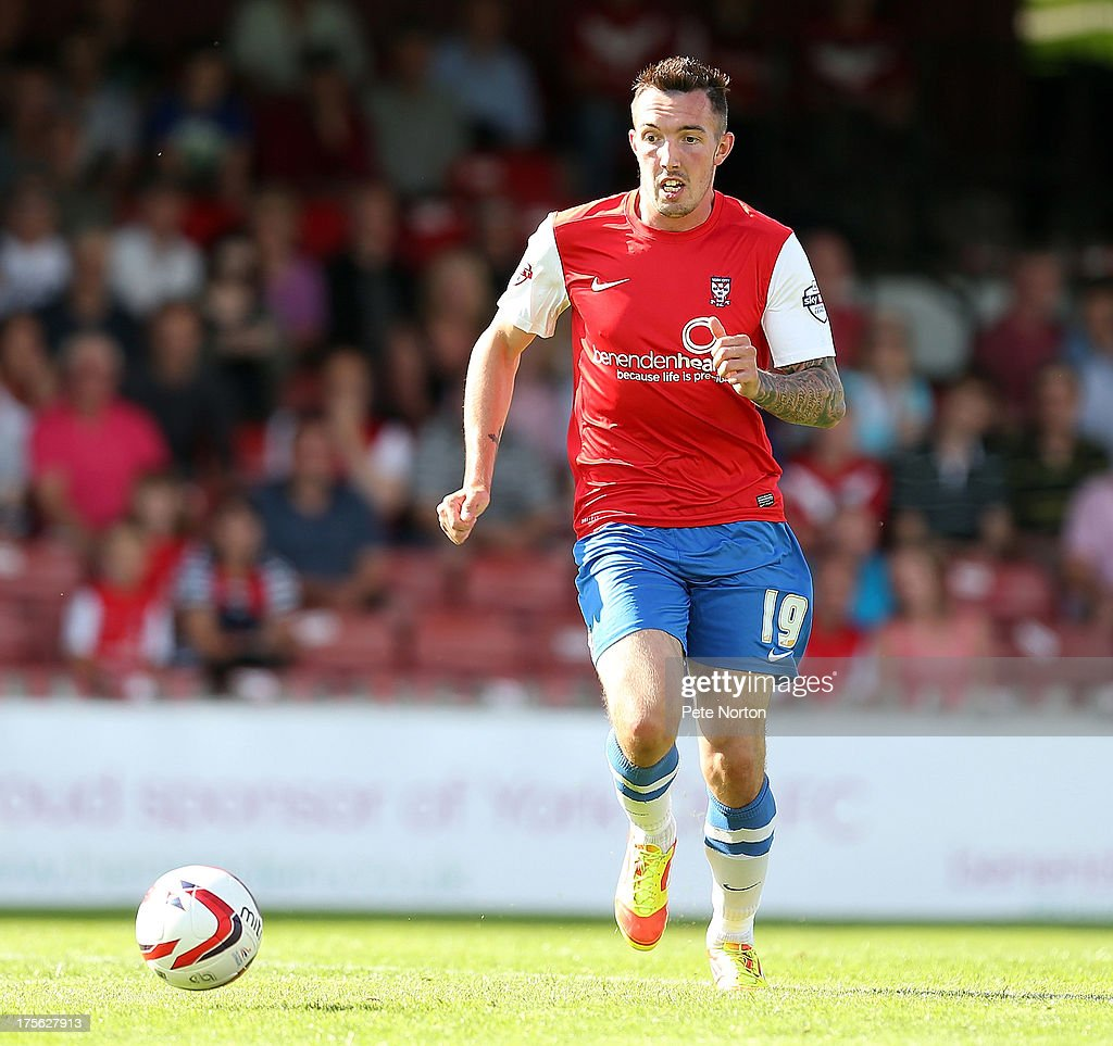 Ryan Bowman of York City in action during the Sky Bet League Two match between York City and Northampton Town at Bootham Crescent on August 3, 2013 in York, England.