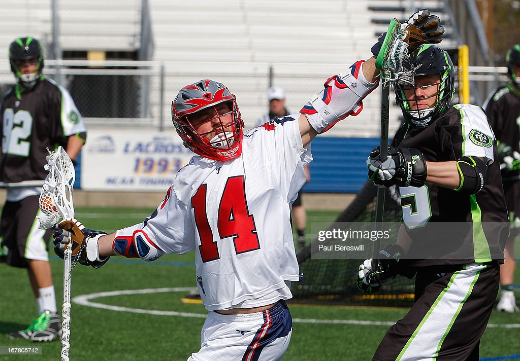 Ryan Boyle #14 of the Boston Cannons is in action during a Major League Lacrosse game against the New York Lizards at James M. Shuart Stadium on April 28, 2013 in Hempstead, New York.