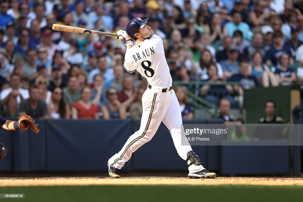 <a gi-track='captionPersonalityLinkClicked' href=/galleries/search?phrase=Ryan+Braun+-+Left+Fielder&family=editorial&specificpeople=4322438 ng-click='$event.stopPropagation()'>Ryan Braun</a> #8 of the Milwaukee Brewers bats during the game against the Minnesota Twins at Miller Park on Saturday, May 19, 2012 in Milwaukee, Wisconsin.