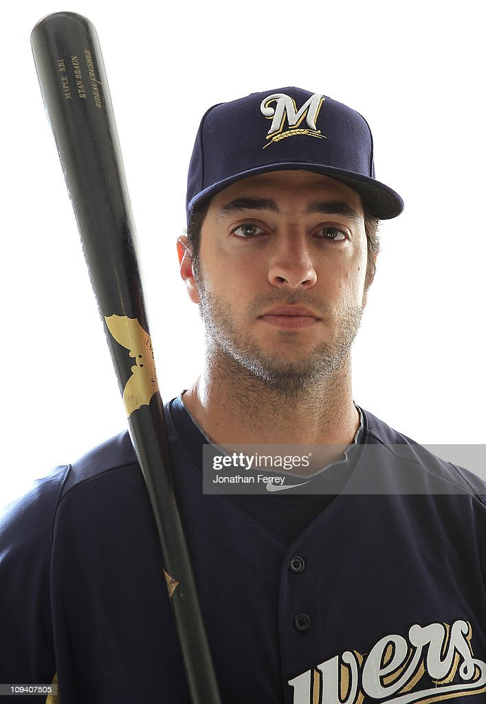 Ryan Braun of the Milwaukee Brewers poses for a portrait during Spring Training Media Day on February 24 2011 at Maryvale Stadium in Maryvale Arizona