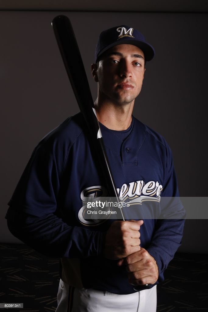 Ryan Braun poses for a photo during the Milwaukee Brewers Spring Training Photo Day at Maryvale Baseball Park on February 26 2008 in Maryvale Arizona