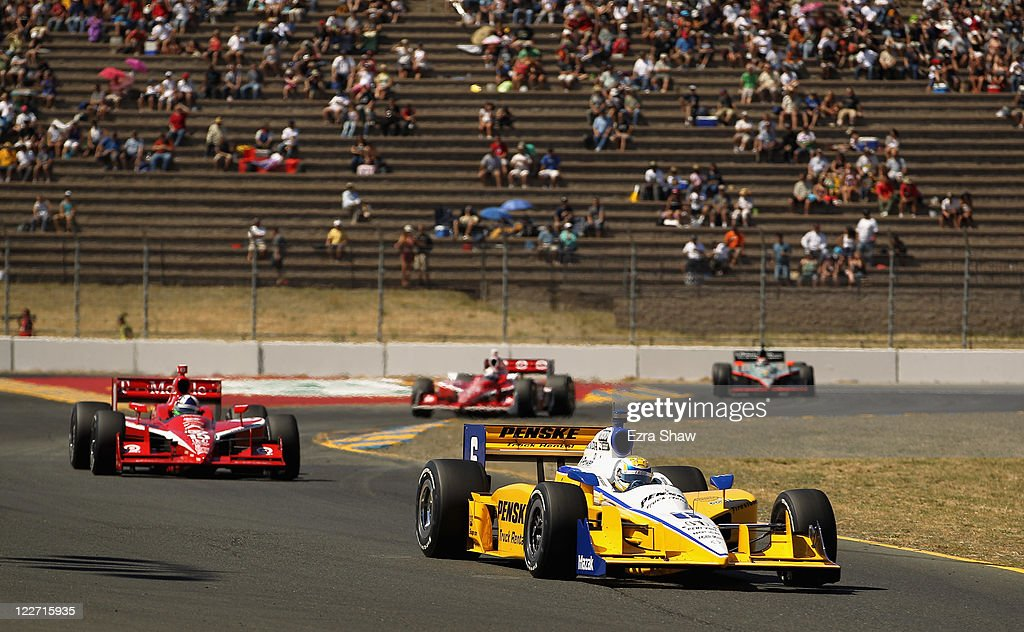 <a gi-track='captionPersonalityLinkClicked' href=/galleries/search?phrase=Ryan+Briscoe&family=editorial&specificpeople=213207 ng-click='$event.stopPropagation()'>Ryan Briscoe</a> of Australia, driver of the #6 Penske Truck Rental Dallara Honda, races in the IZOD IndyCar Series Indy Grand Prix of Sonama race at Infineon Raceway on August 28, 2011 in Sonoma, California.