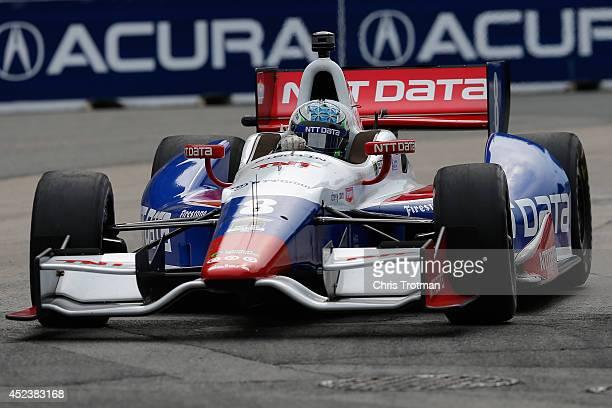 Ryan Briscoe of Australia drives the NTT Data Chip Ganassi Racing Dallara Chevrolet during qualifying for the Verizon IndyCar Series Honda Indy...