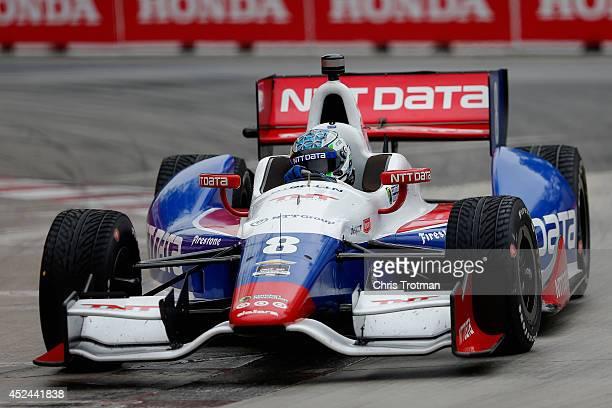 Ryan Briscoe of Australia drives the NTT Data Chip Ganassi Racing Dallara Chevrolet during the Verizon IndyCar Series Honda Indy Toronto on the...