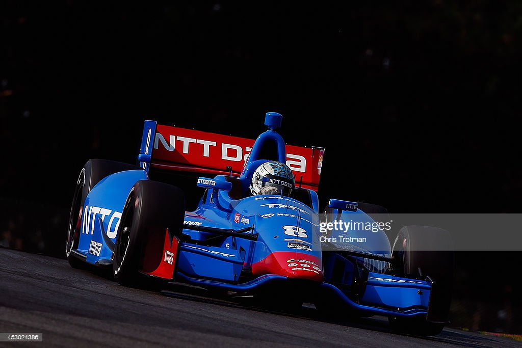Ryan Briscoe of Australia drives the #8 NTT Data Chip Ganassi Racing Dallara Chevrolet during practice for the Verizon IndyCar Series Honda Indy 200 at Mid-Ohio Sports Car Course on August 1, 2014 in Lexington, Ohio.