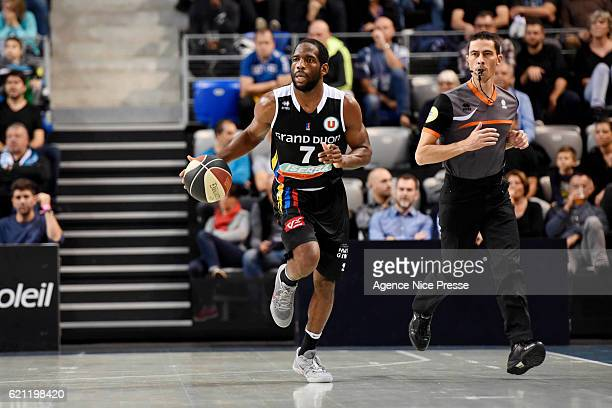 Ryan Brooks of Dijon during the Pro A match between Antibes sharks and JDA Dijon on November 4 2016 in Antibes France
