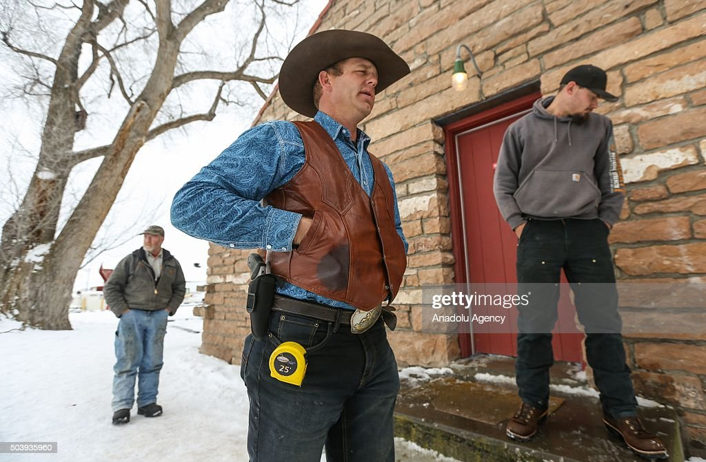 Ryan Bundy is seen at the occupied Malheur National Wildlife Refuge on the sixth day of the occupation of the federal building in Burns Oregon on...