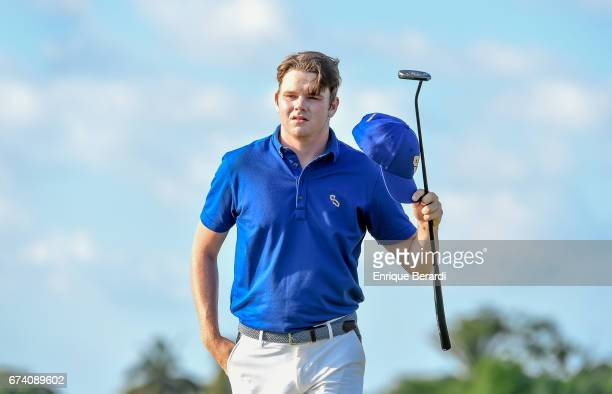 Ryan Burgess of the United States walks up to the ninth hole during the second round of the PGA TOUR Latinoamérica Honduras Open presented by Indura...