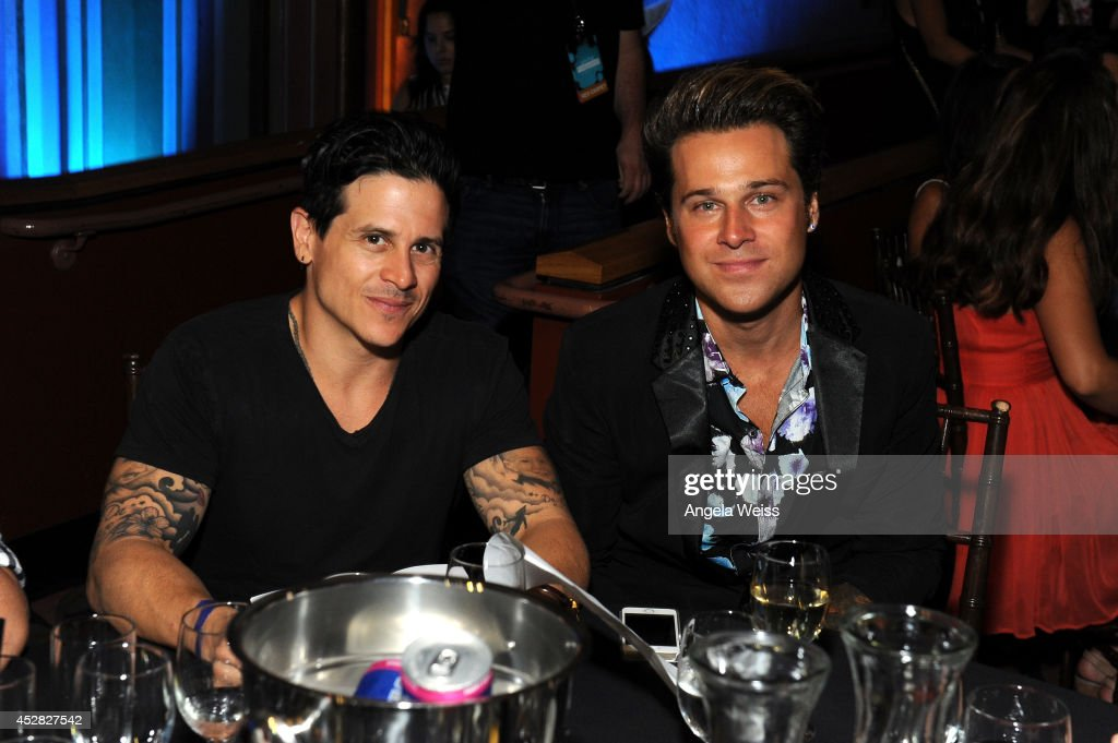 <a gi-track='captionPersonalityLinkClicked' href=/galleries/search?phrase=Ryan+Cabrera&family=editorial&specificpeople=201482 ng-click='$event.stopPropagation()'>Ryan Cabrera</a> (R) in the audience at the 2014 Young Hollywood Awards brought to you by Samsung Galaxy at The Wiltern on July 27, 2014 in Los Angeles, California. The Young Hollywood Awards will air on Monday, July 28 8/7c on The CW.