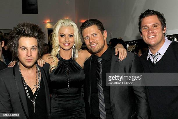 Ryan Cabrera Maryse Ouellet Mike 'The Miz' Mizanin and Bob Guiney attend the LA Launch Of Maryse Oulette's Bold New Jewelry Line House Of Maryse...