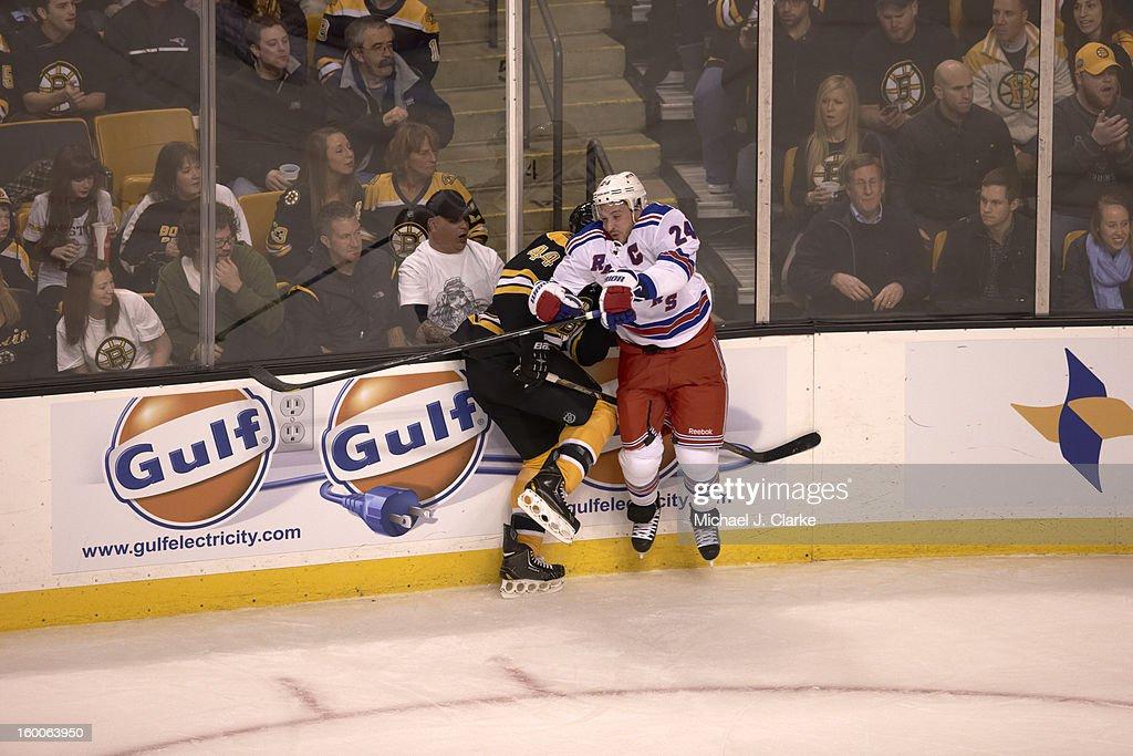 Ryan Callahan New York Rangers vs. Boston Bruins game action TD Garden/Boston , MA Michael J. Clarke F266 )
