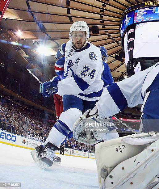 Ryan Callahan of the Tampa Bay Lightning skates against the New York Rangers in Game Five of the Eastern Conference Finals during the 2015 NHL...
