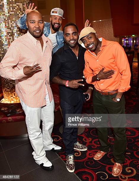 Ryan Cameron Kenny Burns Todd Tucker and Will Packer attend the Atlanta screening of 'No Good Deed' at Strip Atlantic Station on August 27 2014 in...