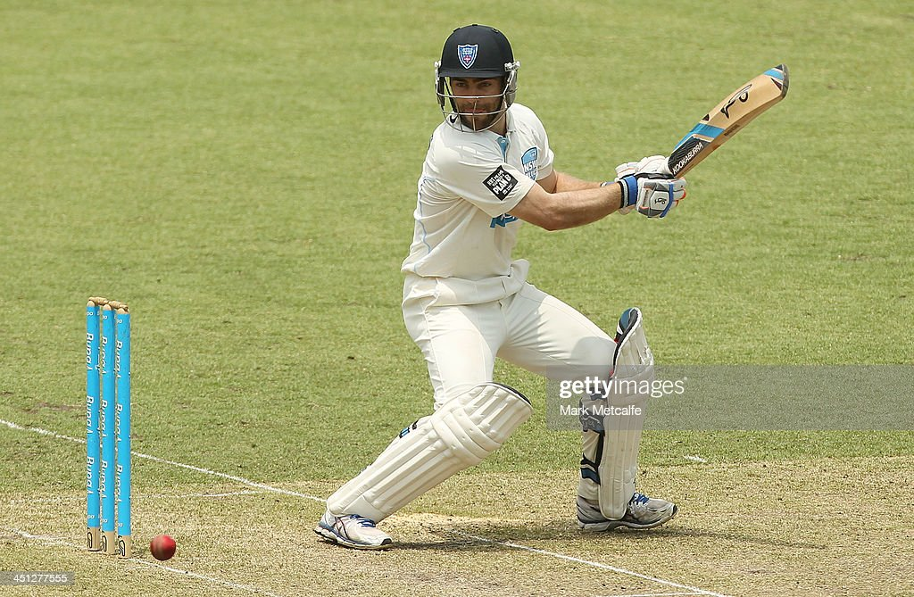 Ryan Carters of the Blues bats during day one of the Sheffield Shield match between the New South Wales Blues and the Queensland Bulls at Sydney Cricket Ground on November 22, 2013 in Sydney, Australia.