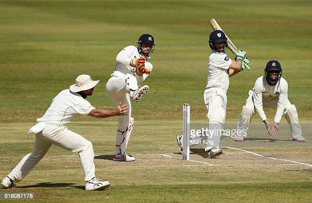 Ryan Carters of the Blues bats during day three of the Sheffield Shield match between Victoria and New South Wales at Traeger Park on March 17 2016...