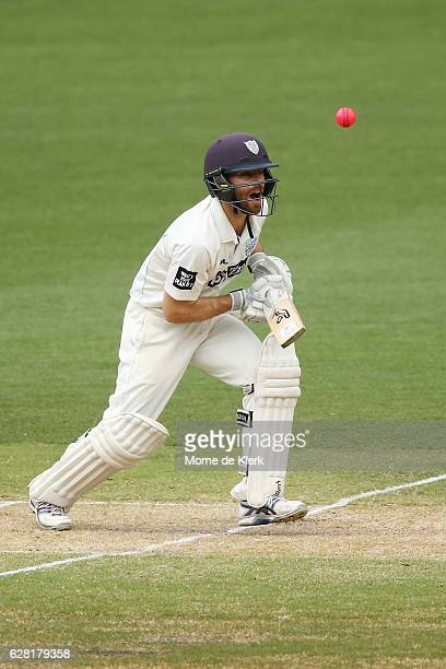 Ryan Carters of the NSW Blues bats during day three of the Sheffield Shield match between South Australia and New South Wales at Adelaide Oval on...