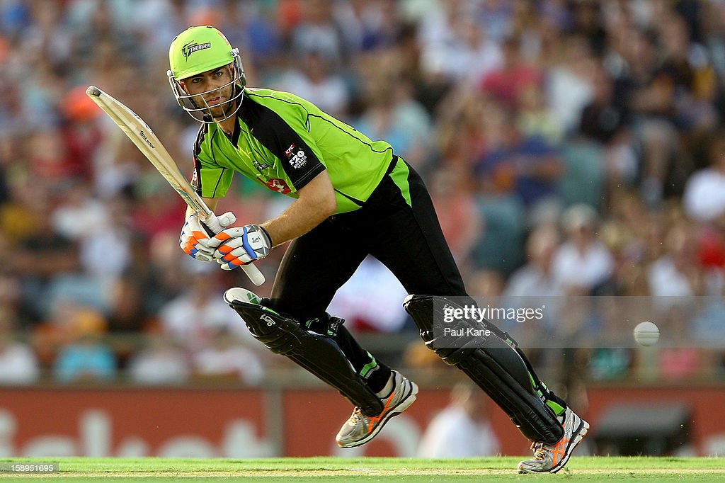 Ryan Carters of the Thunder bats during the Big Bash League match between the Perth Scorchers and the Sydney Thunder at WACA on January 4, 2013 in Perth, Australia.