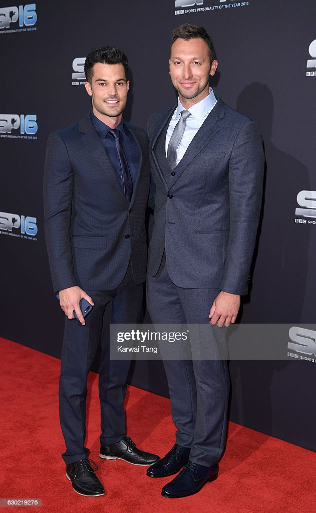 Ryan Channing and Ian Thorpe attend the BBC Sports Personality Of The Year at Resorts World on December 18, 2016 in Birmingham, United Kingdom.
