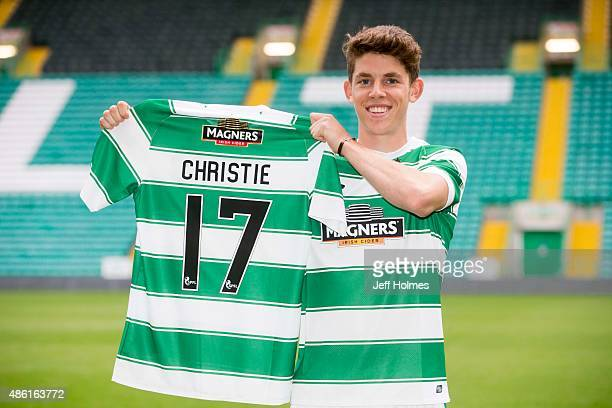Ryan Christie poses as Celtic's new signing at Celtic Park on September 1 2015 in Gascube Glasgow Scotland