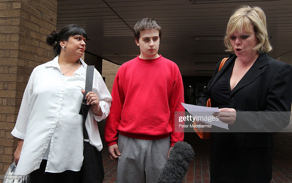 Ryan Cleary (C) stands with his mother Rita Cleary (L) and solicitor Karen Todner outside Southwark Crown Court as his solicitor Karen Todner (R) reads a statement to reporters on June 27, 2011 in London, England. Mr Cleary is charged with hacking into the website of the United Kingdom's Serious Organised Crime Agency as part of a Scotland Yard and FBI investigation into online hacking group LulzSec.