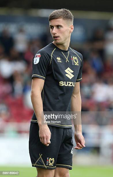 Ryan Colclough of Milton Keynes Dons in action during the Sky Bet League One match between Northampton Town and Milton Keynes Dons at Sixfields...