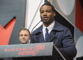 Ryan Coogler accepts the Audience Award US Dramatic for Fruitvale onstage at the Awards Night Ceremony during the 2013 Sundance Film Festival at...