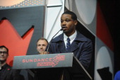 Ryan Coogler accepts the Grand Jury Prize US Dramatic for Fruitvale onstage at the Awards Night Ceremony during the 2013 Sundance Film Festival at...