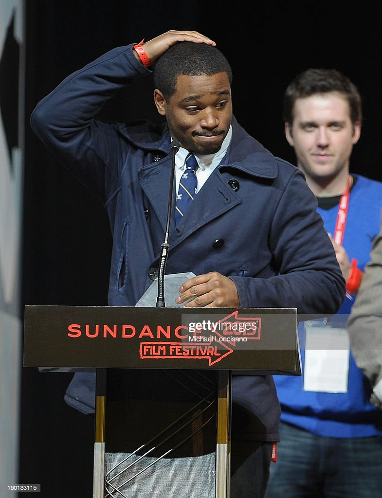 Ryan Coogler accepts the Grand Jury Prize: U.S. Dramatic for Fruitvale onstage at the Awards Night Ceremony during the 2013 Sundance Film Festival at Basin Recreation Field House on January 26, 2013 in Park City, Utah.