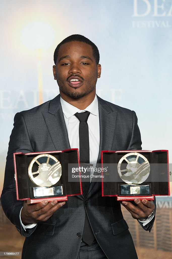 Ryan Coogler poses with the 'Cartier revelation prize' and the 'Deauville audience award' he won with the film 'Fruitvale station' on September 7, 2013 in Deauville, France.