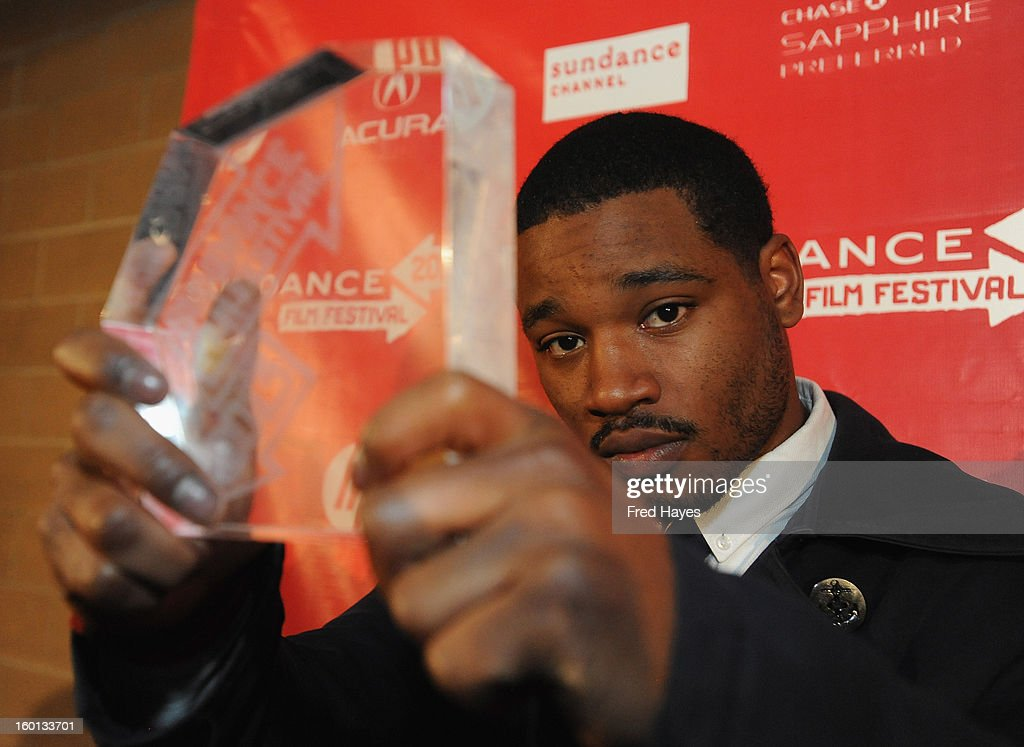 <a gi-track='captionPersonalityLinkClicked' href=/galleries/search?phrase=Ryan+Coogler&family=editorial&specificpeople=7316581 ng-click='$event.stopPropagation()'>Ryan Coogler</a> winner of the Grand Jury Prize: U.S. Dramatic for Fruitvale poses with award at the Awards Night Ceremony during the 2013 Sundance Film Festival at Basin Recreation Field House on January 26, 2013 in Park City, Utah.