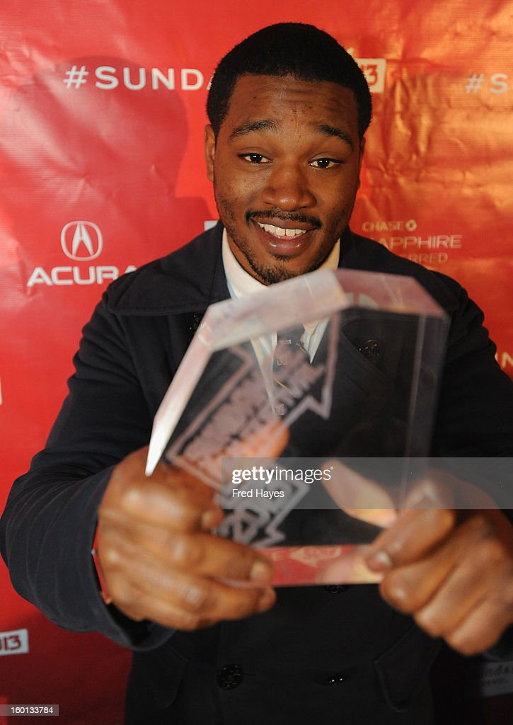 Ryan Coogler winner of the Grand Jury Prize: U.S. Dramatic for Fruitvale poses with award at the Awards Night Ceremony during the 2013 Sundance Film Festival at Basin Recreation Field House on January 26, 2013 in Park City, Utah.