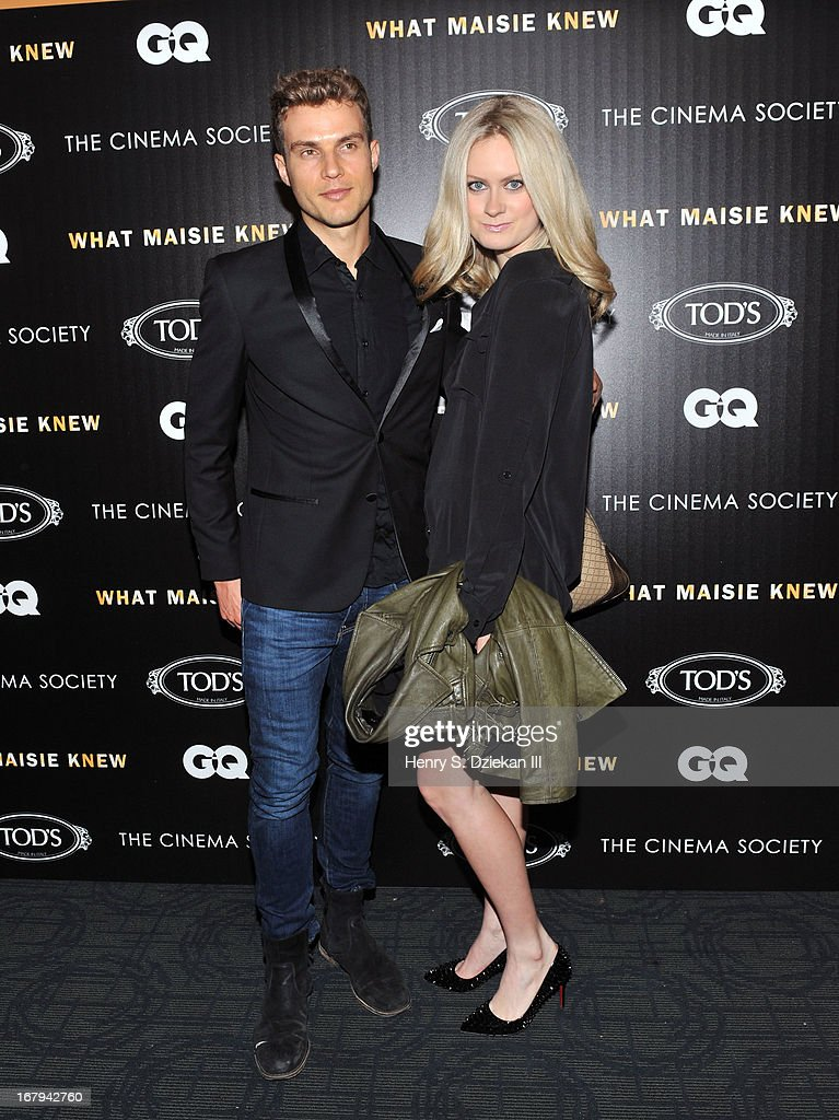 Ryan Copper and guest attend The Cinema Society with Tod's & GQ screening of Millennium Entertainment's 'What Maisie Knew' at Sunshine Landmark on May 2, 2013 in New York City.