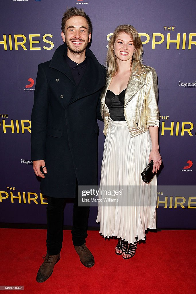 Ryan Corr and Cariba Heine pose on the red carpet at the Sydney Premiere of The Sapphires at State Theatre on August 8, 2012 in Sydney, Australia.