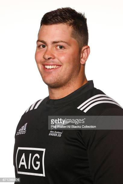 Ryan Coxon poses during the New Zealand U20 Headshots Session at Novotel Auckland Airport on April 22 2017 in Auckland New Zealand