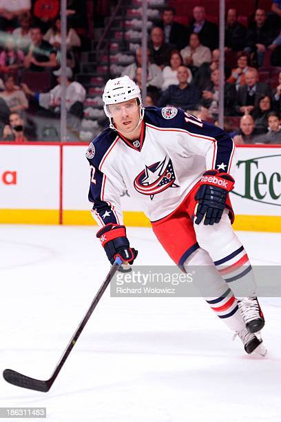 Ryan Craig of the Columbus Blue Jackets skates during the NHL game against the Montreal Canadiens at the Bell Centre on October 17 2013 in Montreal...