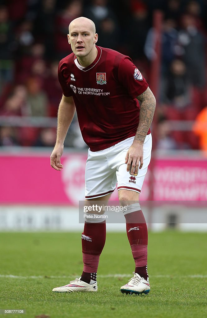 Ryan Cresswell of Northampton Town in action during the Sky Bet League Two match between Northampton Town and York City at Sixfields Stadium on February 6, 2016 in Northampton, England.