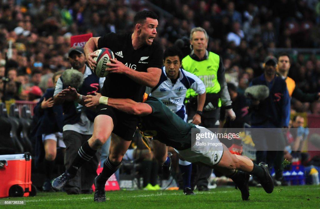Ryan Crotty of New Zealand during the Rugby Championship 2017 match between South Africa and New Zealand at DHL Newlands on October 07, 2017 in Cape Town, South Africa.