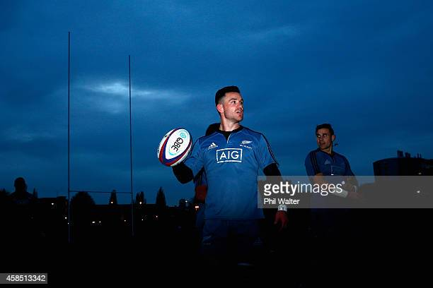 Ryan Crotty of the All Blacks during a New Zealand All Blacks training session at Latymers on November 6 2014 in London England