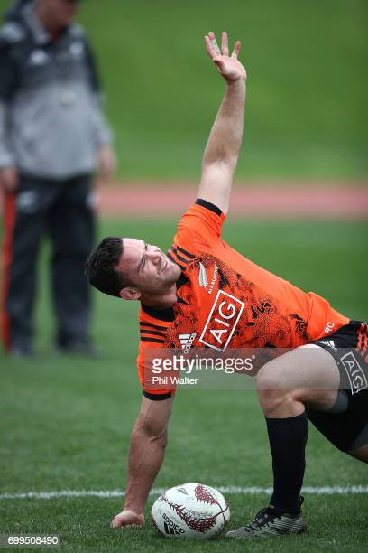 Ryan Crotty of the All Blacks during a New Zealand All Blacks training session at Trusts Stadium on June 22 2017 in Auckland New Zealand