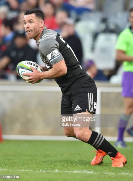 Ryan Crotty of the Crusaders in action during the Super Rugby match between Toyota Cheetahs and Crusaders at Toyota Stadium on April 29 2017 in...