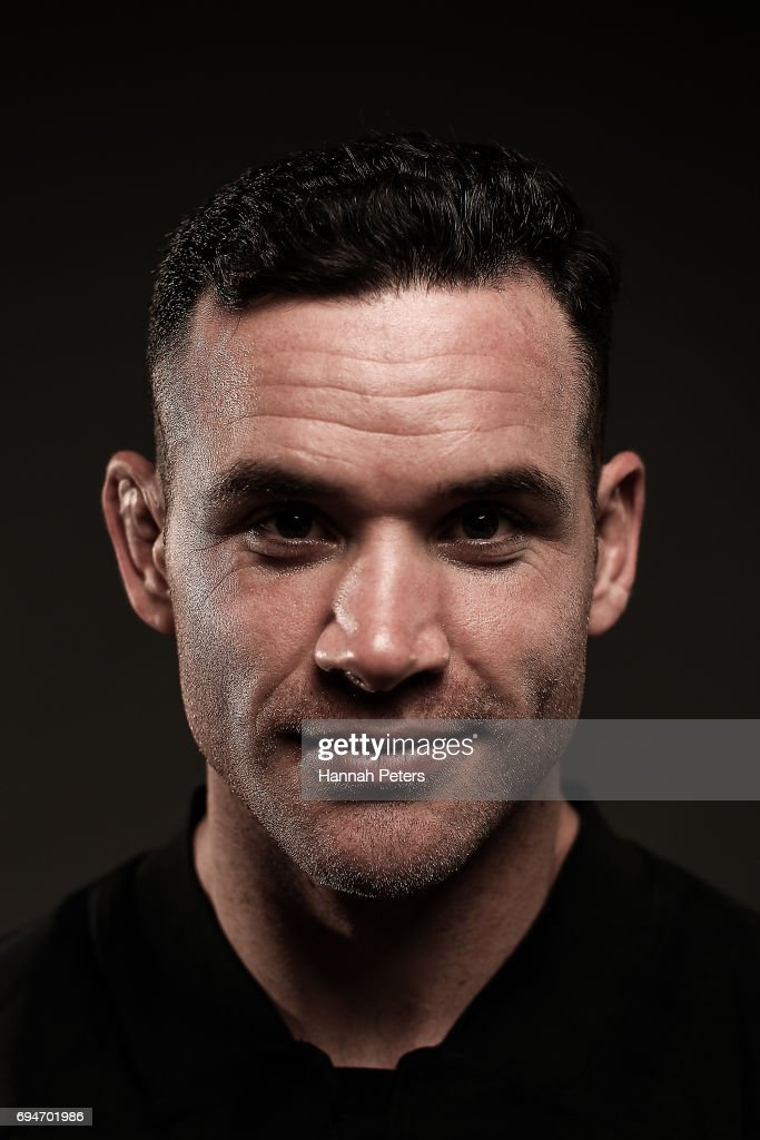 Ryan Crotty poses for a portrait during the New Zealand All Blacks Headshots Session on June 11, 2017 in Auckland, New Zealand.