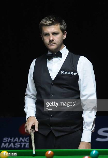 Ryan Day of Wales looks on in the match against Barry Hawkins of England on day four of the 2013 World Snooker Shanghai Master at Shanghai Grand...