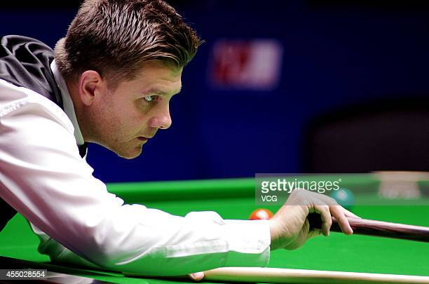 Ryan Day of Wales plays a shot in the match against John Higgins of Scotland during day two of the World Snooker Bank of Communications OTO Shanghai...