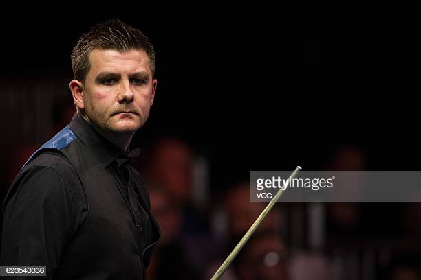 Ryan Day of Wales reacts during the first round match against Marco Fu of Chinese Hong Kong on day two of Coral Northern Ireland Open 2016 at Titanic...