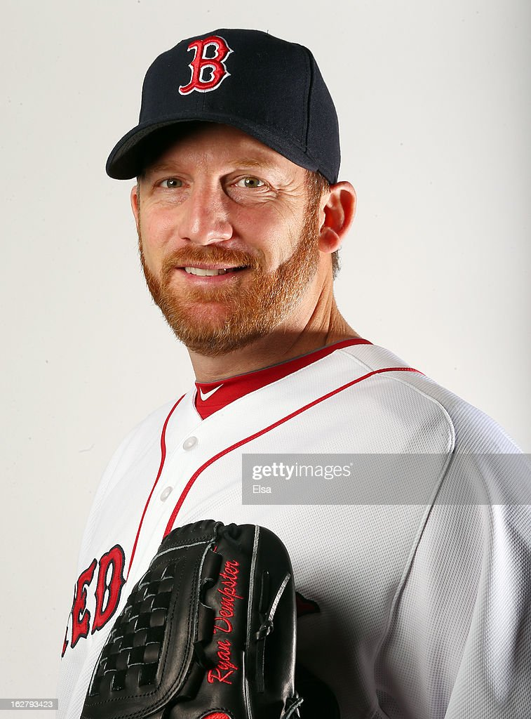 <a gi-track='captionPersonalityLinkClicked' href=/galleries/search?phrase=Ryan+Dempster&family=editorial&specificpeople=211606 ng-click='$event.stopPropagation()'>Ryan Dempster</a> #46 of the Boston Red Sox poses for a portrait on February 17, 2013 at JetBlue Park at Fenway South in Fort Myers, Florida.