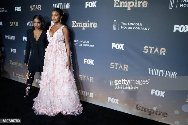 Ryan Destiny and Amiyah Scott attend 'Empire' 'Star' celebrate FOX's New Wednesday Night at One World Observatory on September 23 2017 in New York...