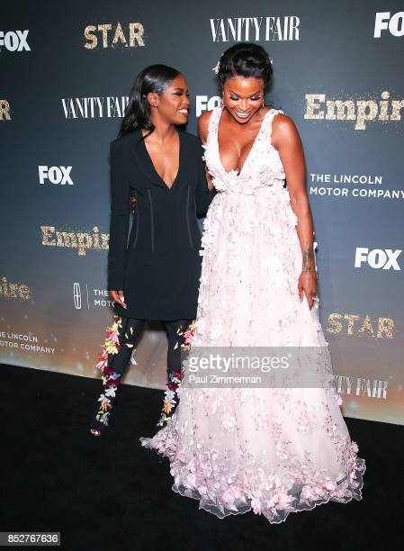 Ryan Destiny and Amiyah Scott attend 'Empire' 'Star' Celebrate FOX's New Wednesday Night Red Carpet at One World Observatory on September 23 2017 in...