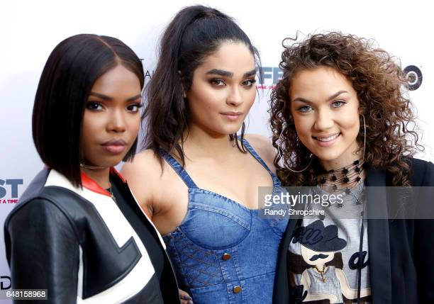 Ryan Destiny Brittany O'Grady and Jude Demorest attend Outfest Fusion LGBT People of Color Film Festival on March 4 2017 in Los Angeles California