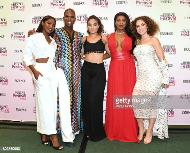 Ryan Destiny Miss Lawrence Brittany O'Grady Amiyah Scott and Jude Demorest of 'Star' pose in the press room at the 2017 ESSENCE Festival presented by...