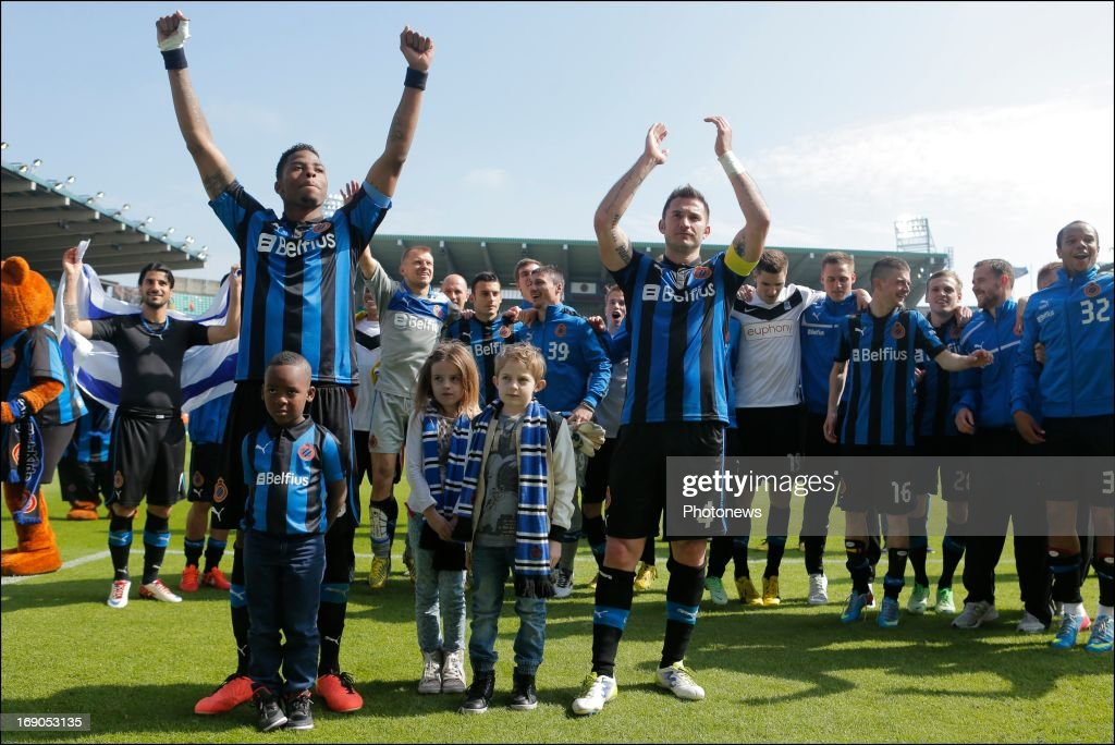 Ryan Donk and Carl Hoefkens of Club Brugge during the Jupiler League match between Club Brugge and KRC Genk on May 19, 2013 in Jan Breydel Stadion in Brugge, Belgium. via Getty Images)